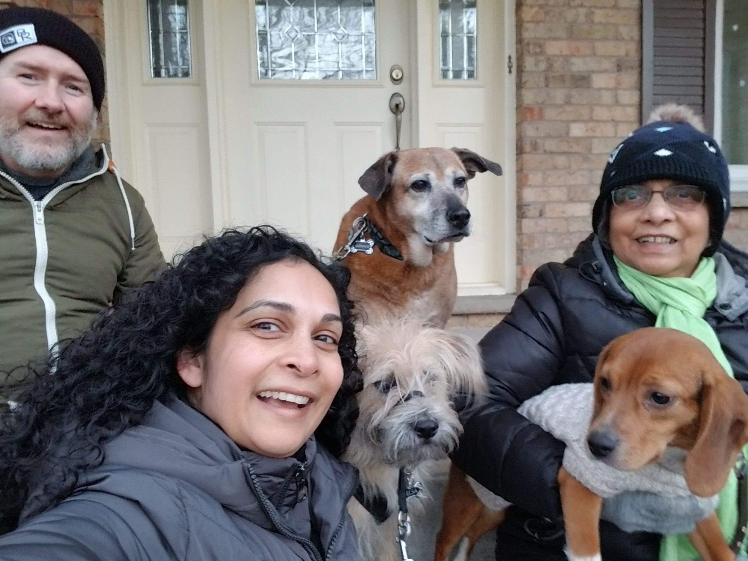 Photo of Uncharted Veterinary Community Member Senani Ratnayake, RVT and family