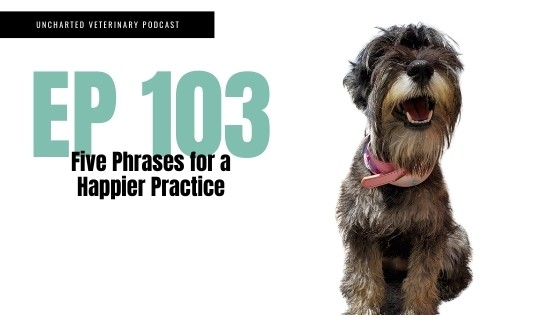 Uncharted Veterinary Podcast Episode 103: Five Phrases for a Happier Practice