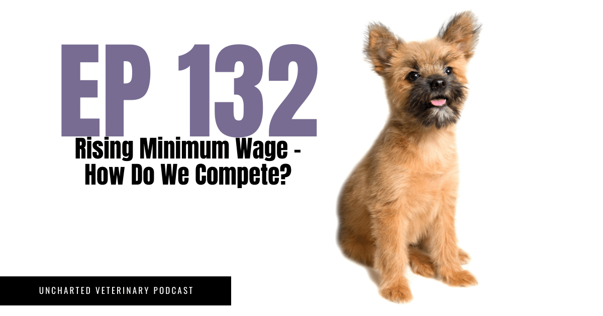 Uncharted Veterinary Podcast Episode 132: Rising minimum wage - how do we compete?