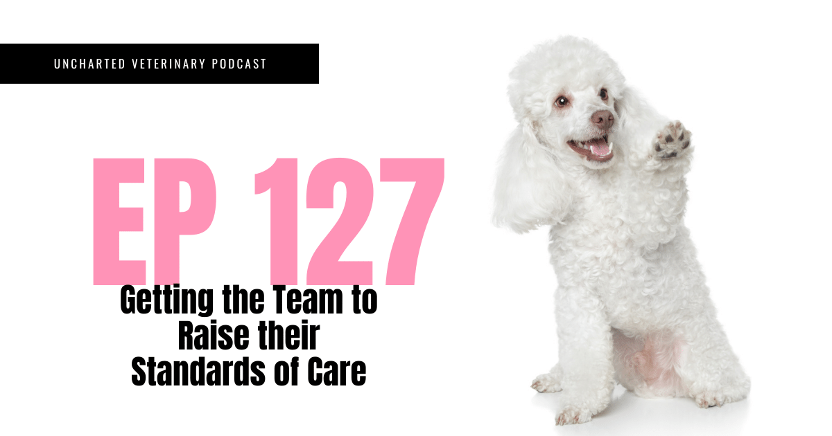 Uncharted Veterinary Podcast Episode 127 Getting the Team to Raise their Standards of Care