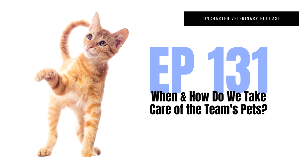 Uncharted Veterinary Podcast Episode 131: When and how do we take care of the team's pets?